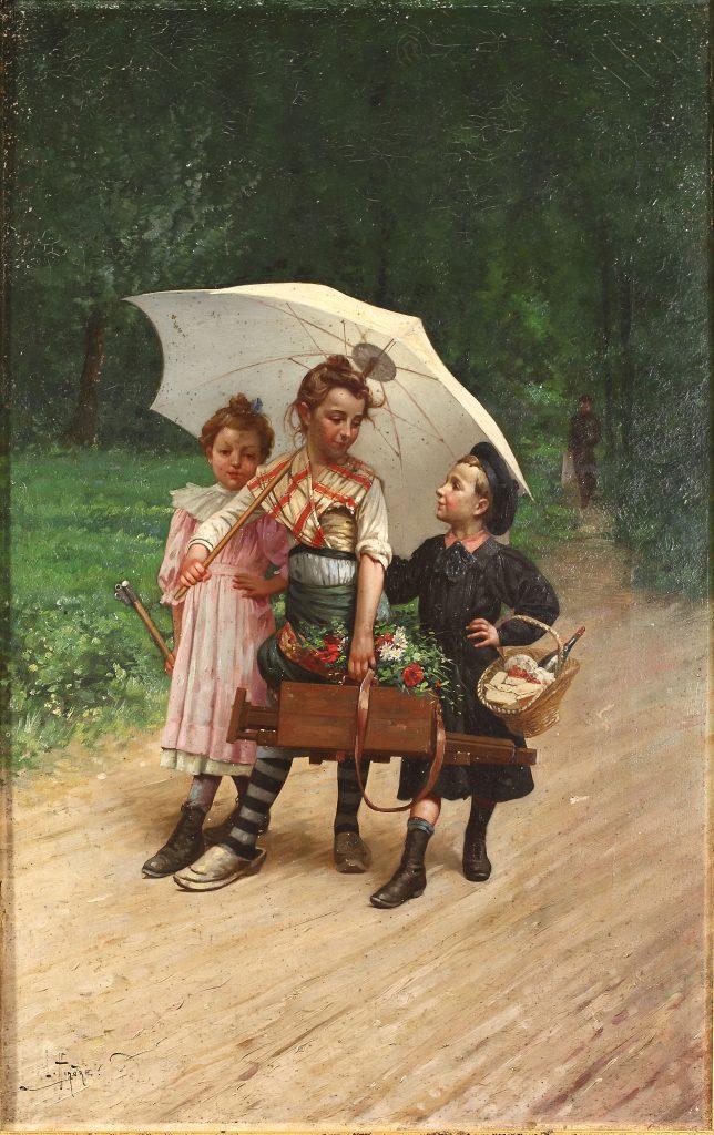 Léon Hingre Dans les bois d'Écouen