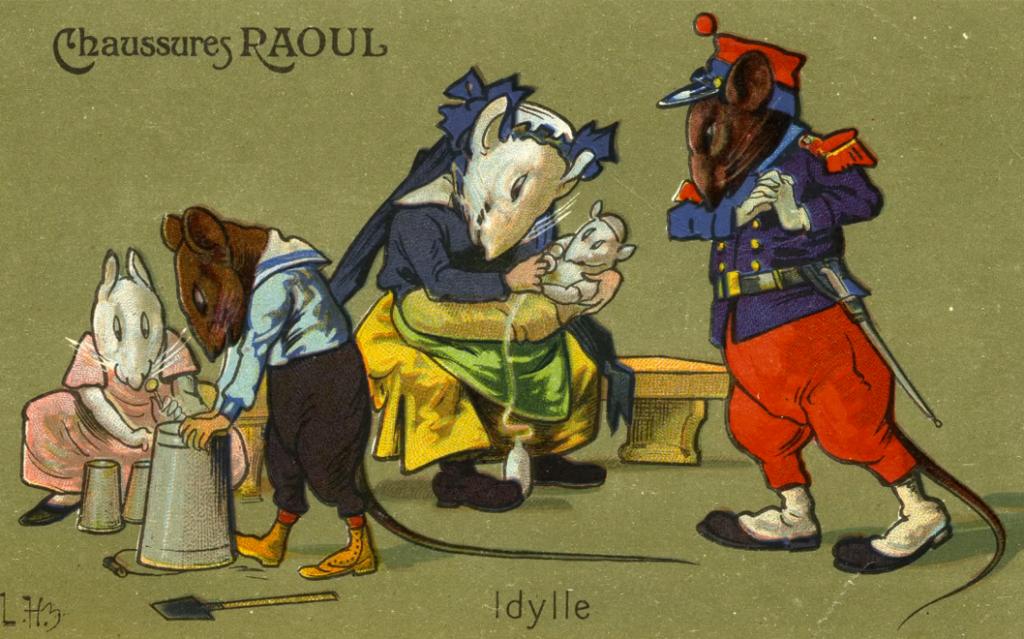 carte postale léon hingre chaussures raoul Idylle