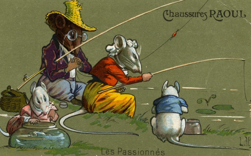 carte postale léon hingre chaussures raoul les passionés