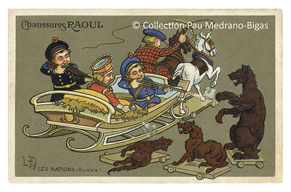 carte postale léon hingre chaussures raoul nations russie