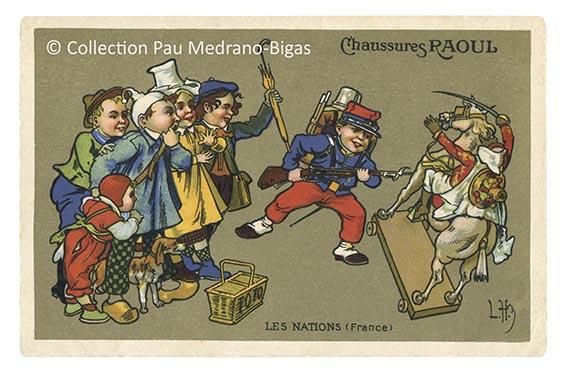 carte postale léon hingre chaussures raoul Nations France