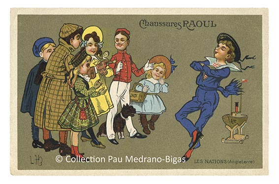 carte postale léon hingre chaussures raoul Nations Angleterre