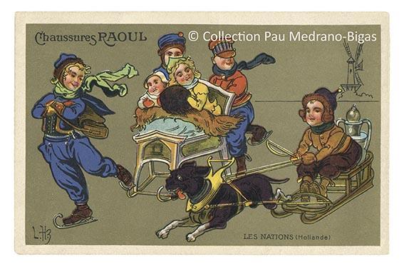 carte postale léon hingre chaussures raoul Nation Hollande